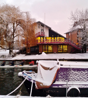 The current boathouse, built in 2001.