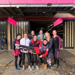 NW1, (Novice Women's 1st Boat) having just raced in Fairbairn's, 2019