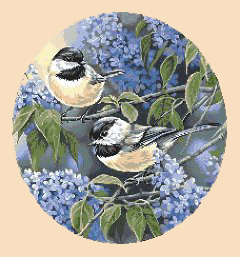 cross-stitch pattern free download as pdf file with birds