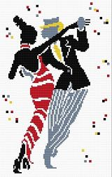 Cross stitch pattern FREE download in PDF file with dancers