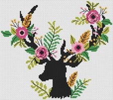 Cross Stitch pattern FREE download in PDF file with derr