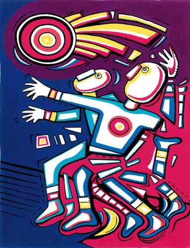 Atletism - Alfredo Sosabravo. Il lancio del disco è la disciplina sportiva rappresentata dallartista cubano
