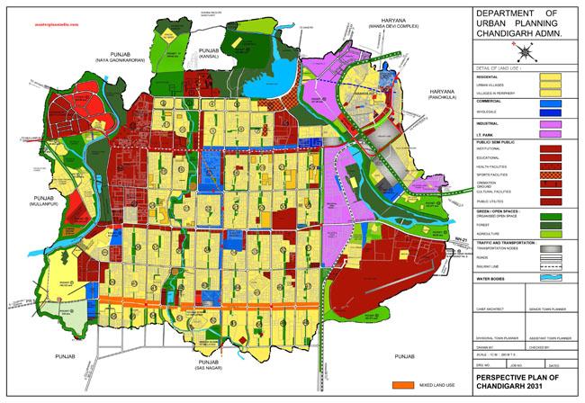 Chandigarh Master Development Plan 2031 Map