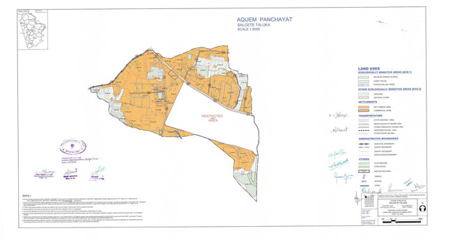 Aquem Salcette Regional Development Plan Map