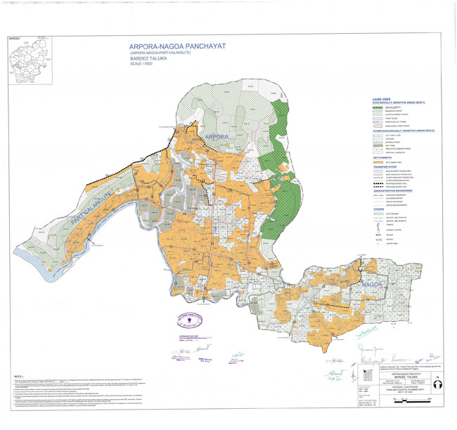 Arpora Nagoa Bardez Regional Development Plan Map
