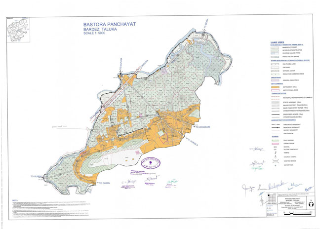 Bastora Bardez Regional Development Plan Map