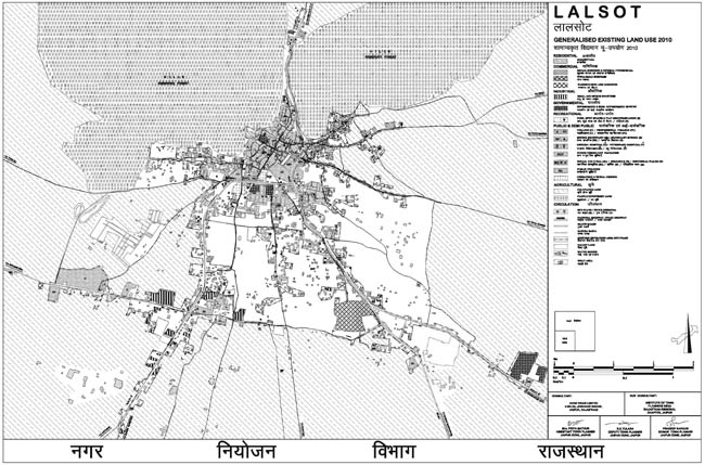 Lalsot Existing Land Use Map 2010