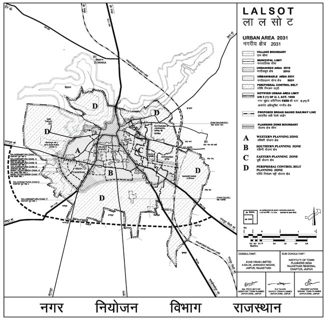 Lalsot Urban Area 2031 Map