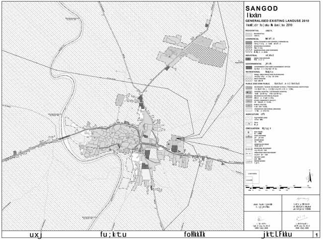 Sangod Land Use Map 2010