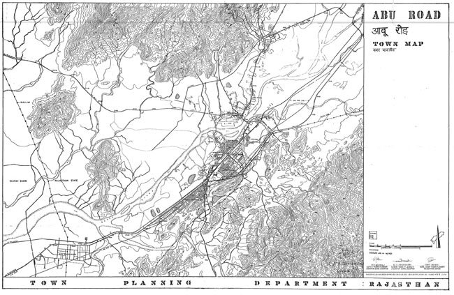 Abu Road Town Map