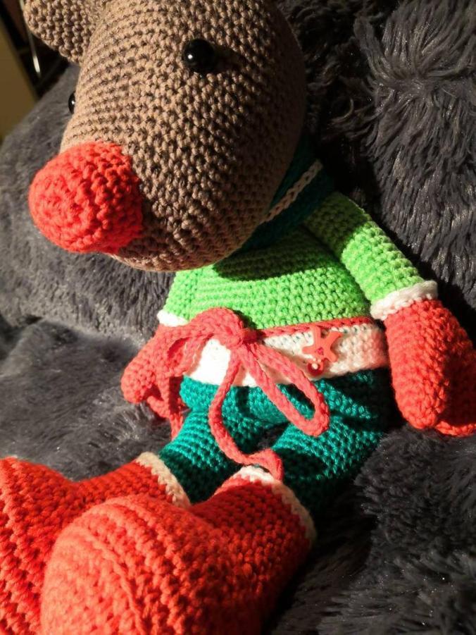 Amigurumi-peluche de collection-fait à la main au crochet- amigurumi renne #1