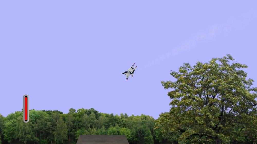 An F-15 slices through the air.