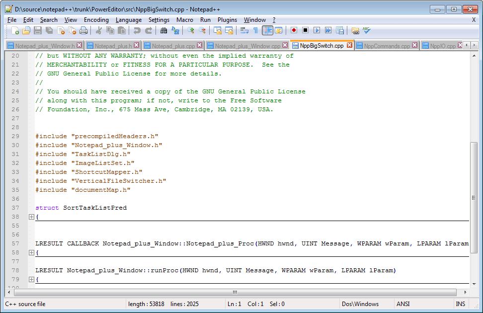 Notepad Plus - صور البرنامج