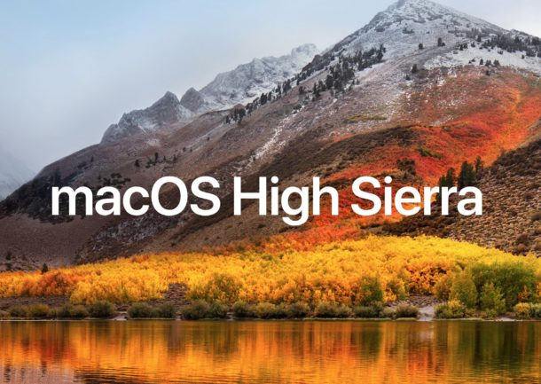 Mac OS High Sierra download 10.13.5