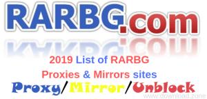 2019 List of RARBG Proxies