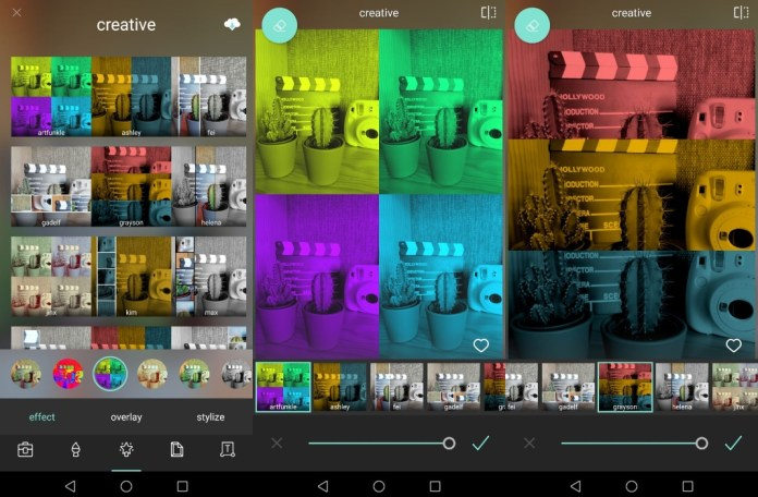 image effects pixlr app