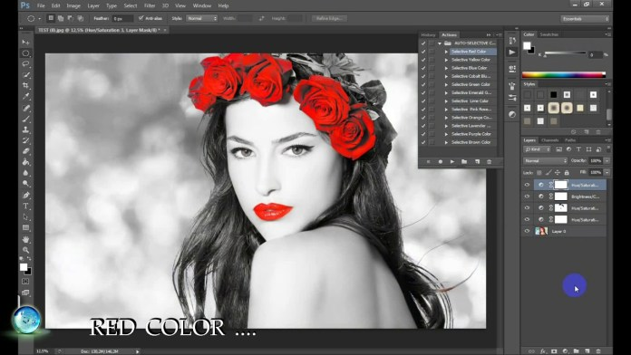 single color editing pixlr