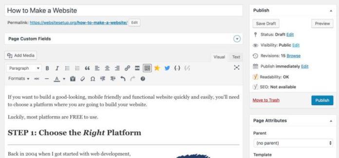 wordpress add pages