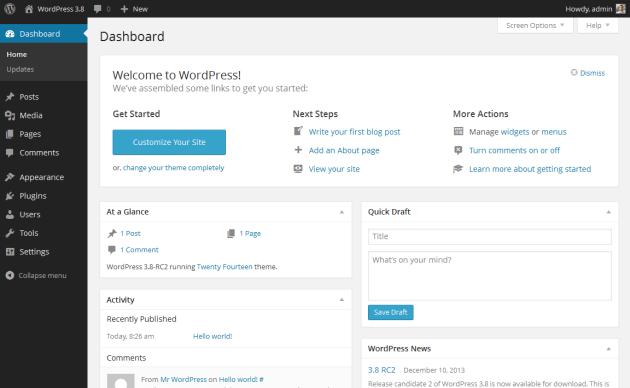 wordpress_default_dashboard