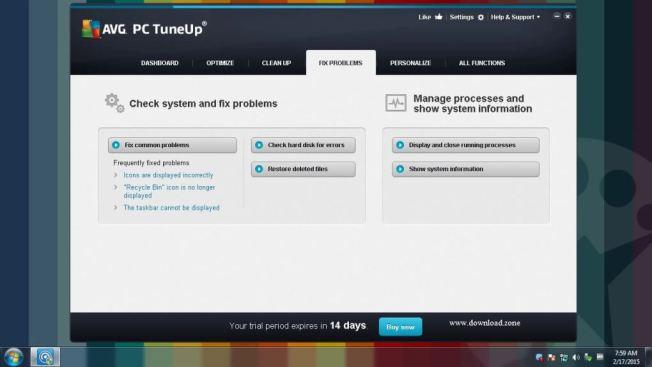 AVG PC TuneUp fix problem