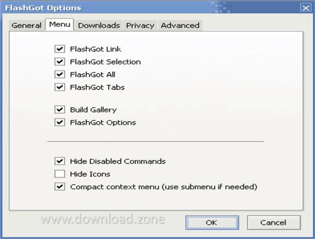 FlashGot Download Menu