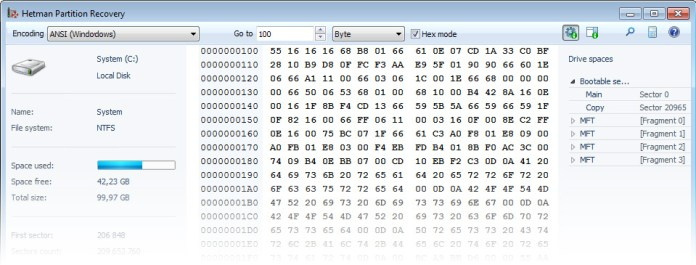 Visual Pre-Recovery Preview and the HEX Editor
