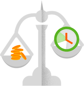 Desktime cost calculation feature