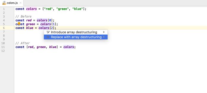 WebStrom-typing