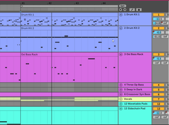 Ableton Live Software showing Get into the details