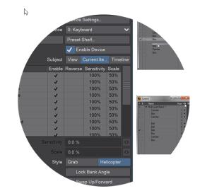 LightWave 3D Software showing Layout and Modeler Navigation