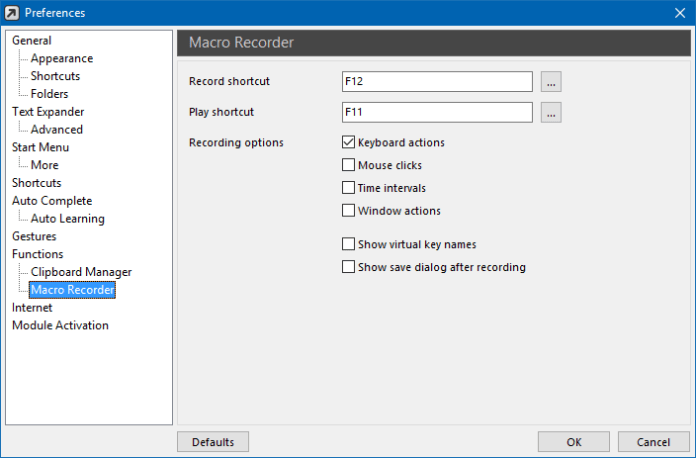 Macro reader for text