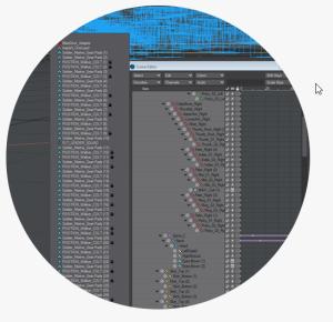 LightWave 3D software showing Popup Menus