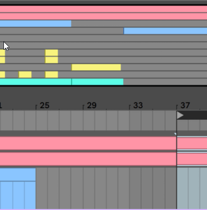 Ableton Live Software showing Resizable Arrangement Overview window