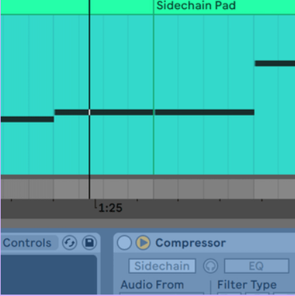 Track freezing with sidechains