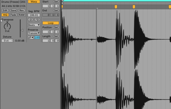 Ableton Live Software showing Use any sounds, at any tempo
