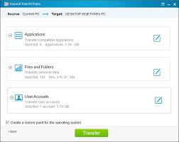 EaseUS Todo PCTrans app showing display screen