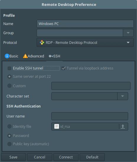 ssh-remote-desktop-preferences