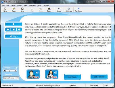 natural reader text to speech software