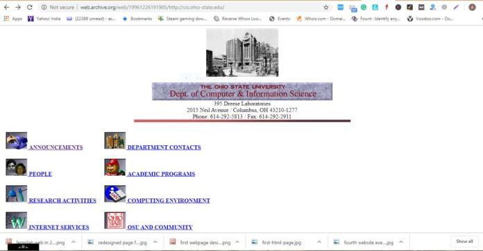 8th website ever - Ohio State University