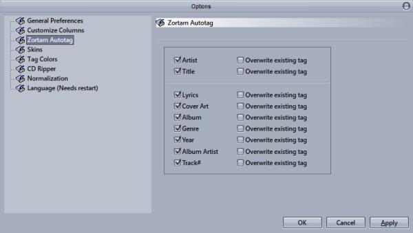 Zortam MP3 Studio-Auto Tag