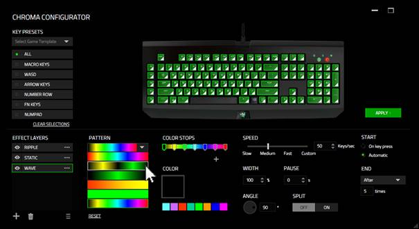 Keyboard Configure With Razer Synapse