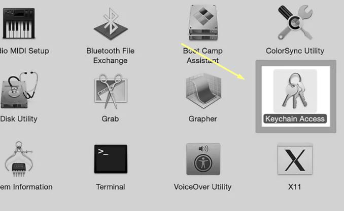 Keychain-Access-option-on-mac