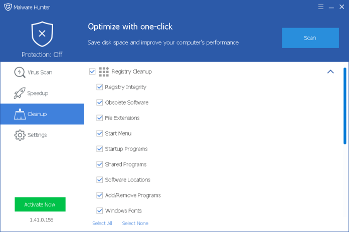 Optimize with one click