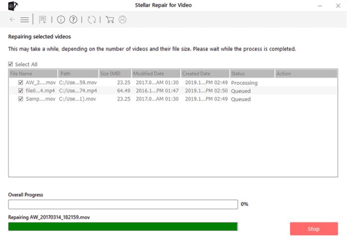 Select Repair File