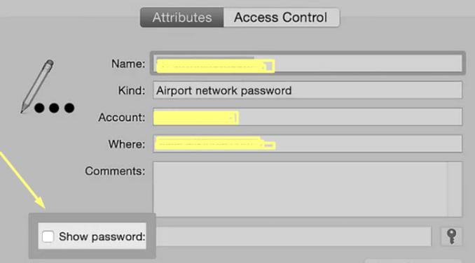 Show-wifi-password-on-a-MacBook-computer