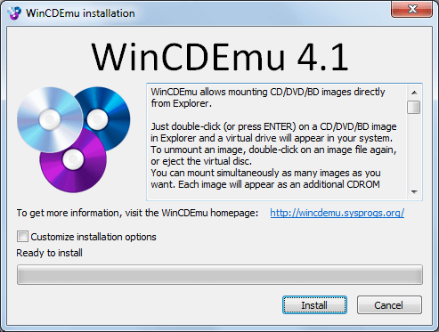 WinCDEmu Install Software