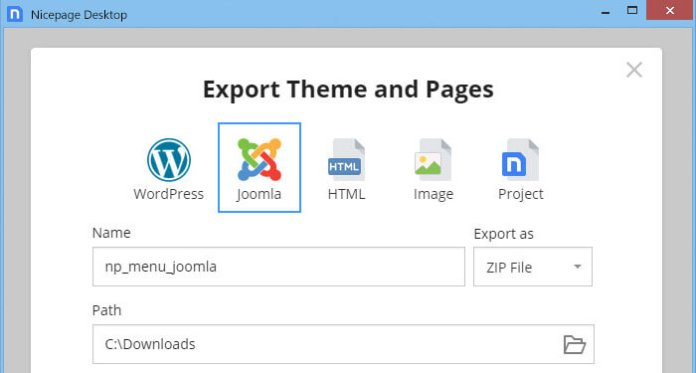Export Website on WordPress Joomla