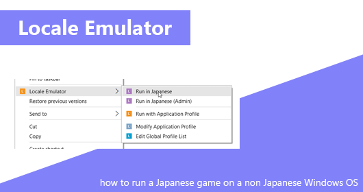 How to run a japanese game on Windows OS