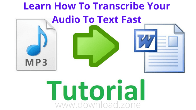 audio to text transcription tutorial