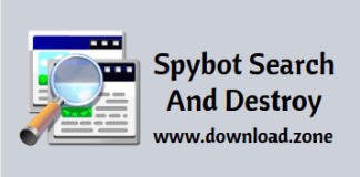 Spybot Search and destroy software